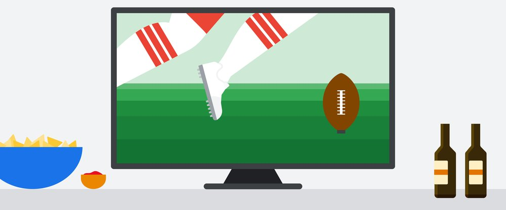 Huddle up for the Super Bowl with a little help from Google