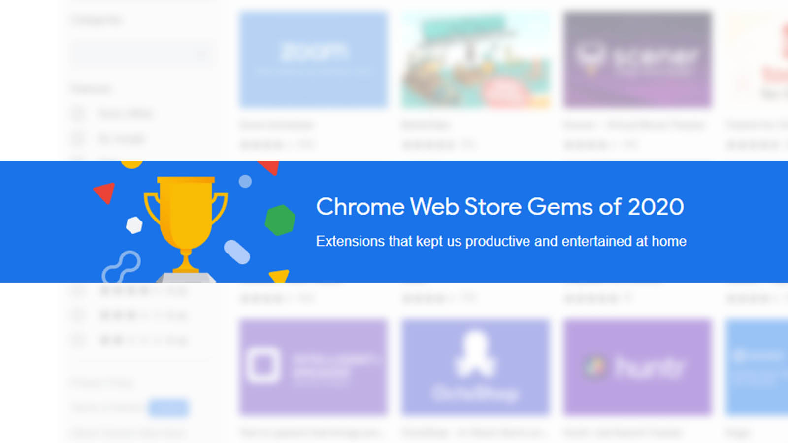 Check out these Chrome Web Store Gems to stay productive and entertained at home