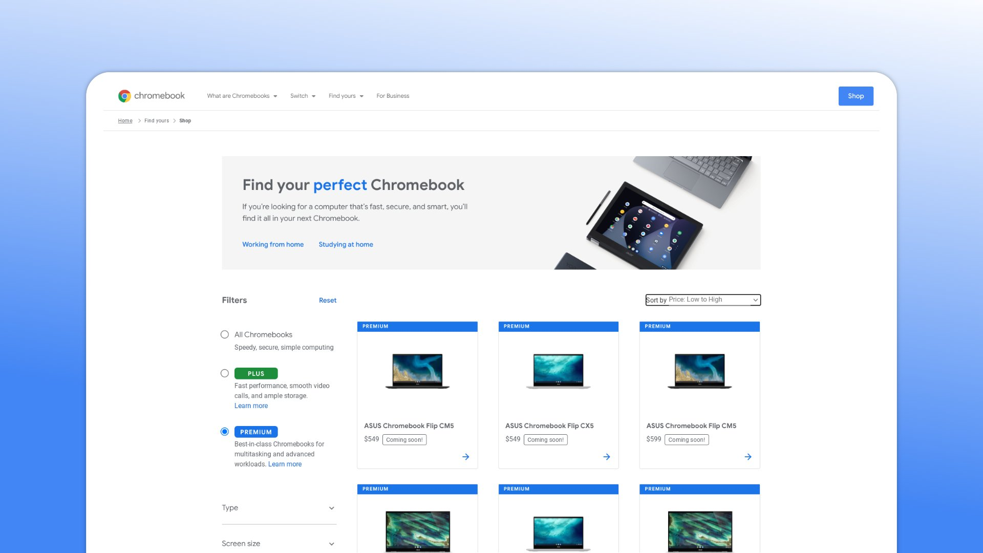 ASUS Chromebook Flip CX5 and CM5 appear on Google's Chromebook page with pricing info