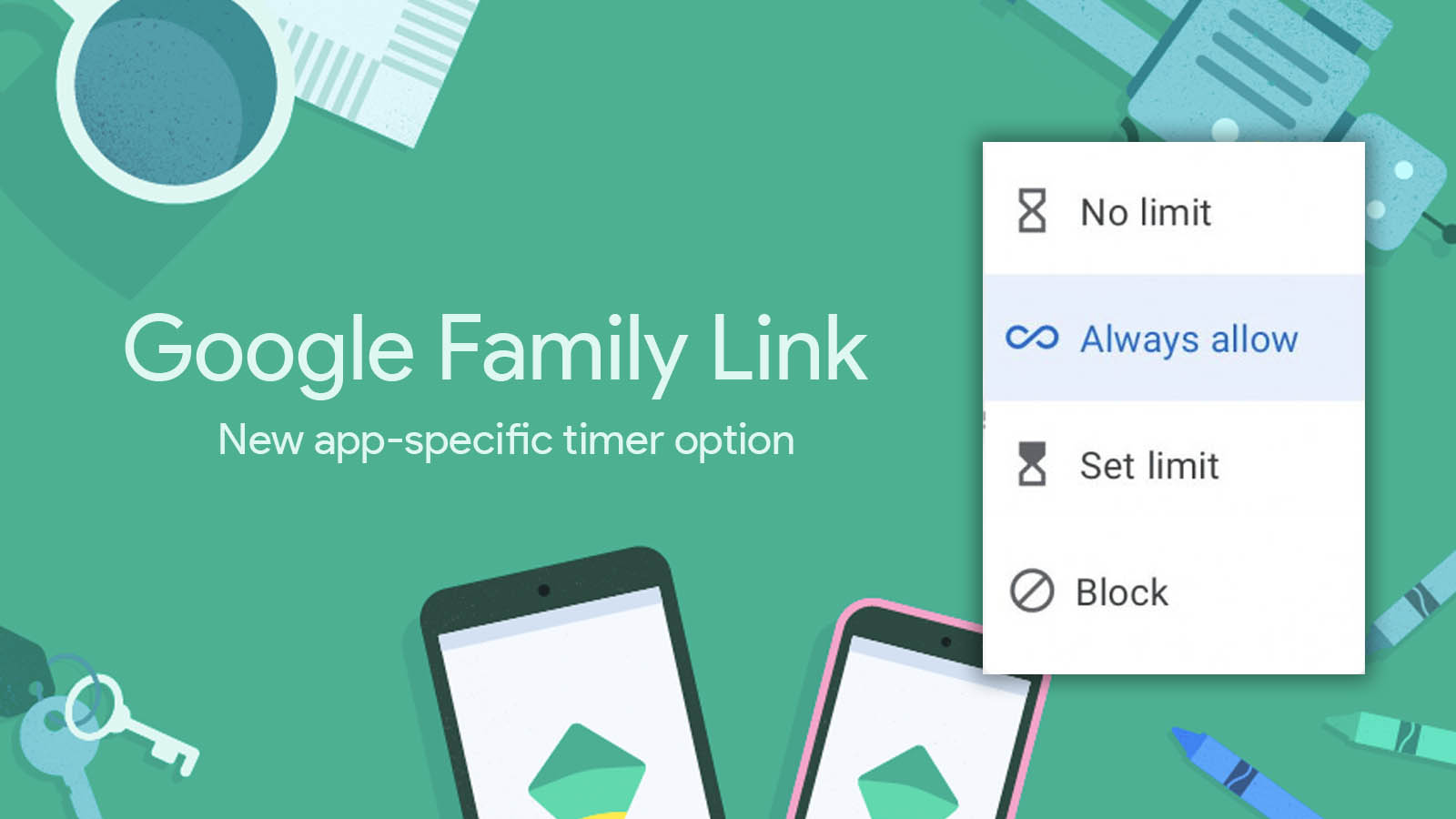 Google Family Link adds new option to exclude apps from daily screen time limitations
