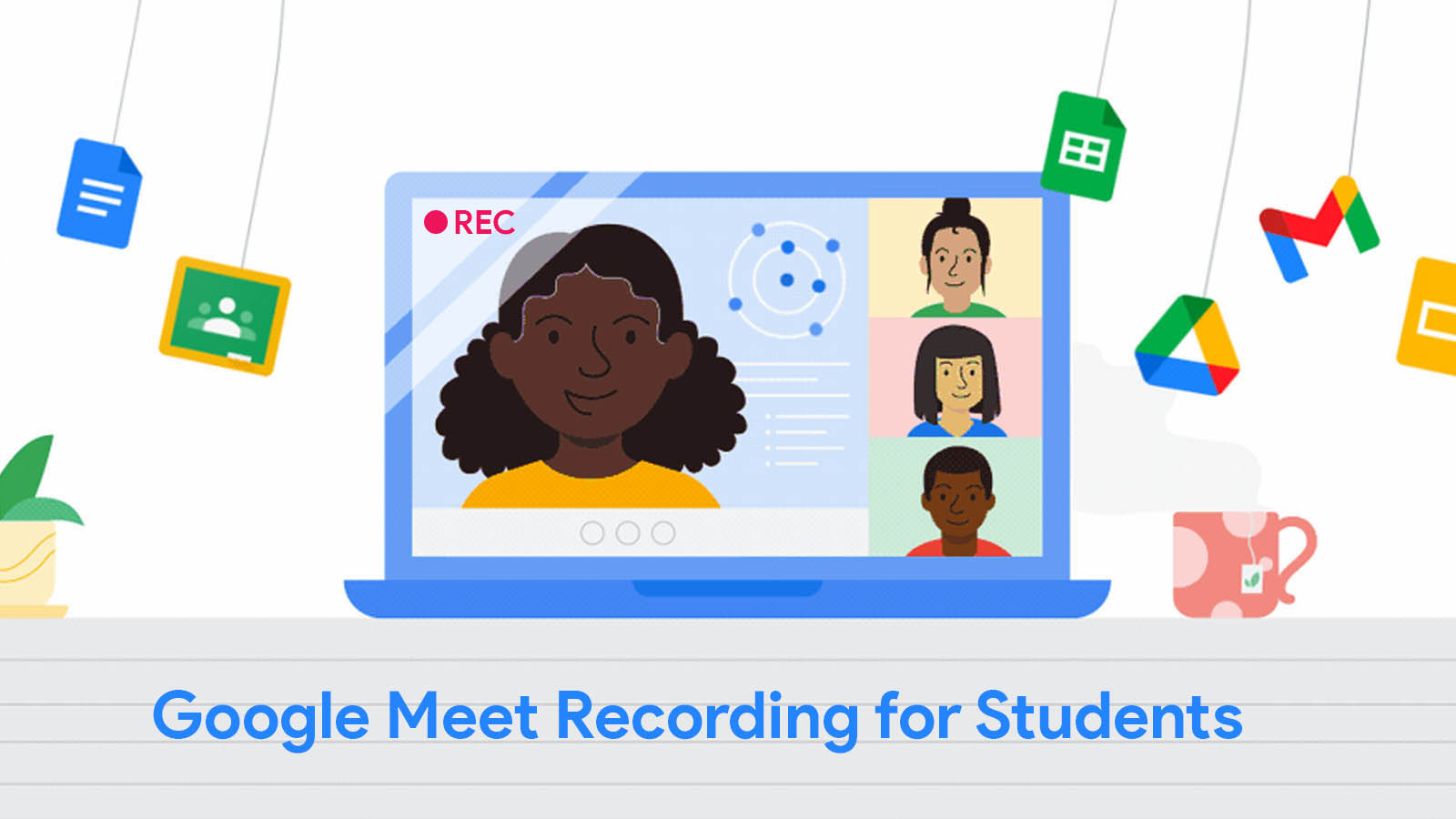 Students will soon be able to record and look back on their virtual school day via Google Meet