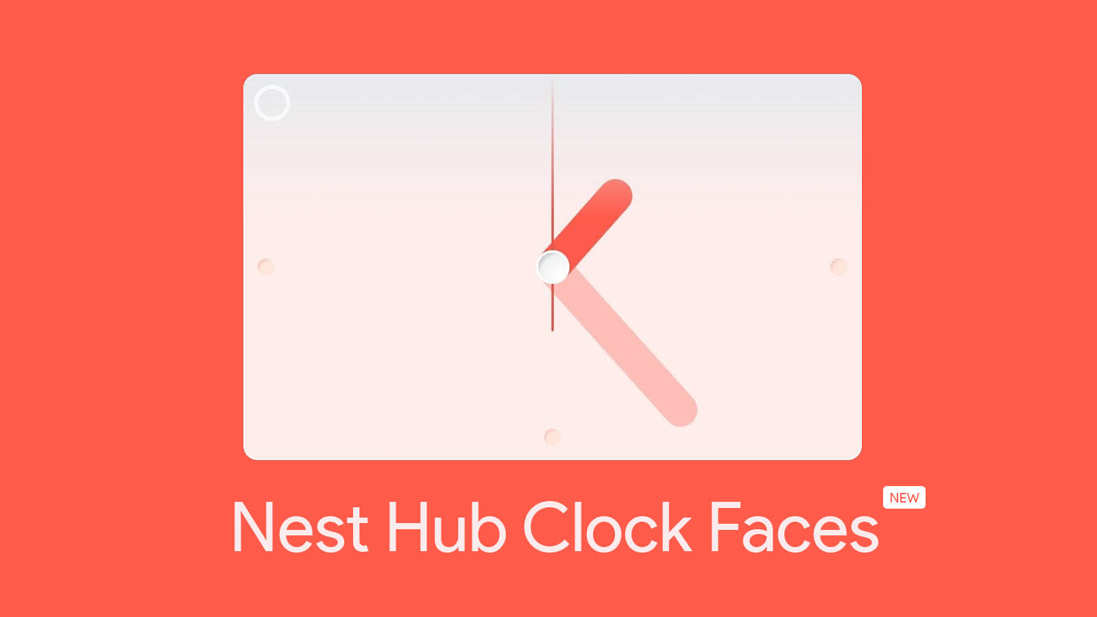 New clock face designs could be coming to Nest Hub devices