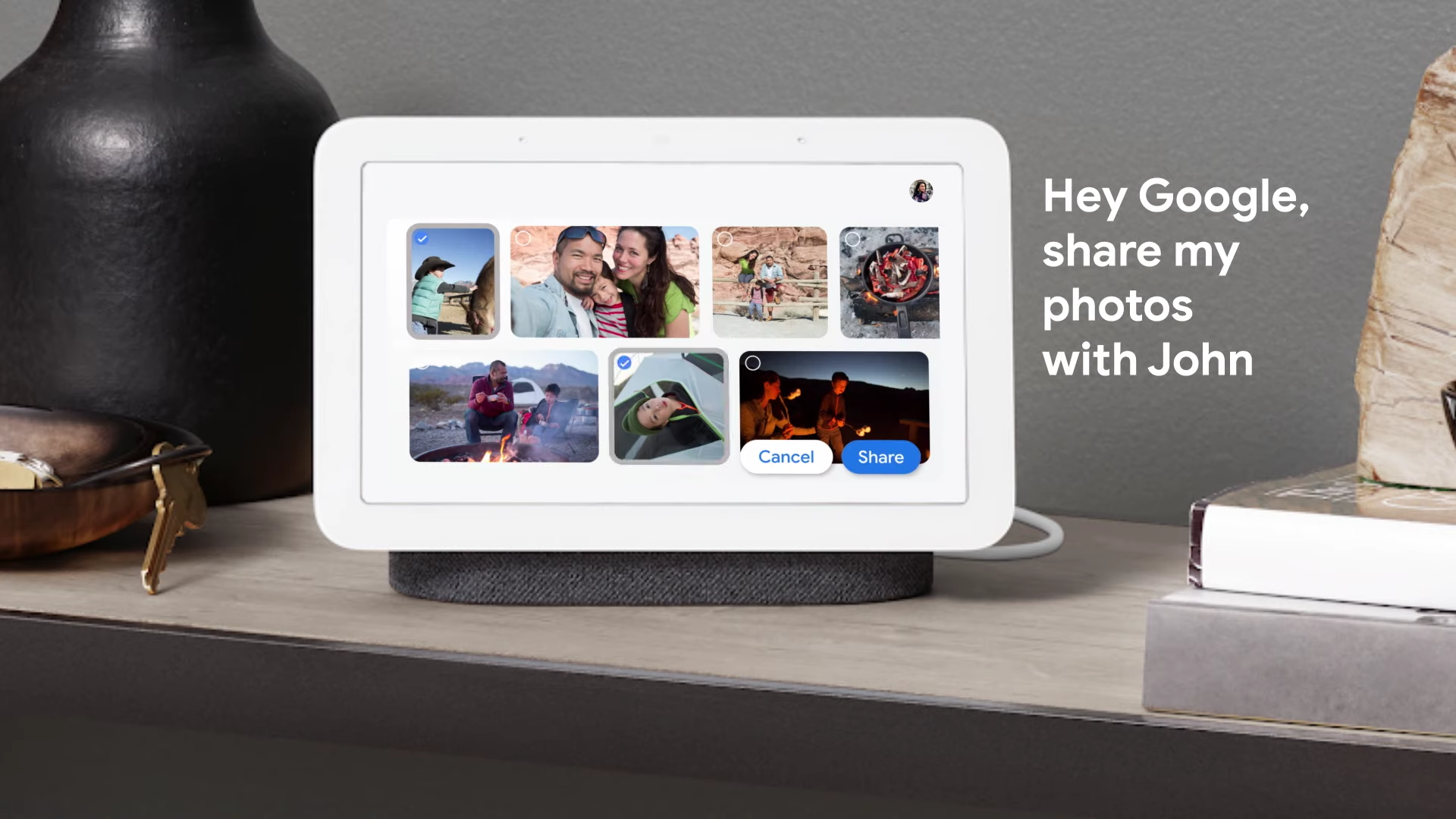 Bulk sharing for Google Photos will soon be available on Nest Hub and Smart Displays