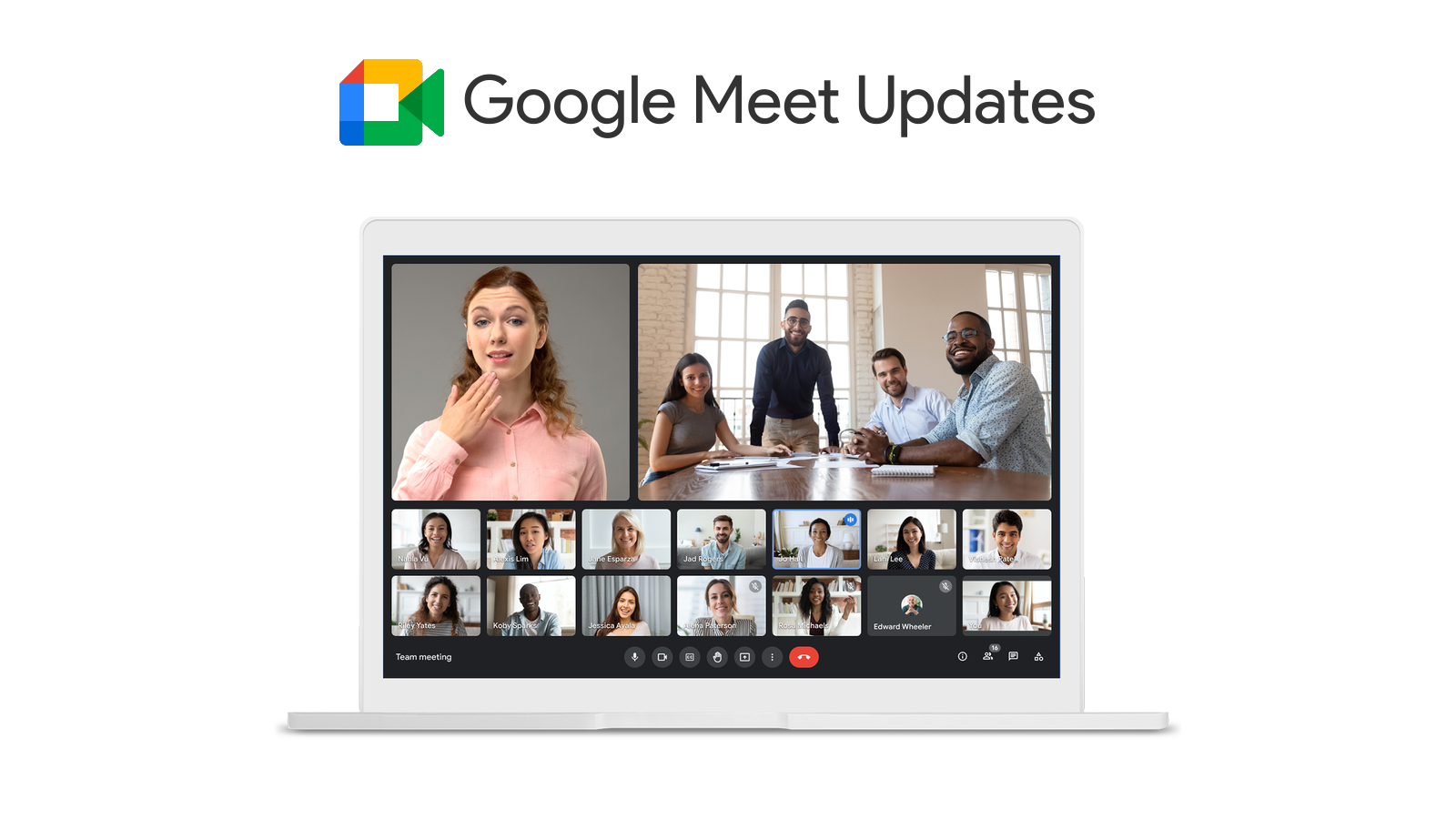 Google Meet visual redesign incoming with auto-exposure tools, speaker highlighting, more