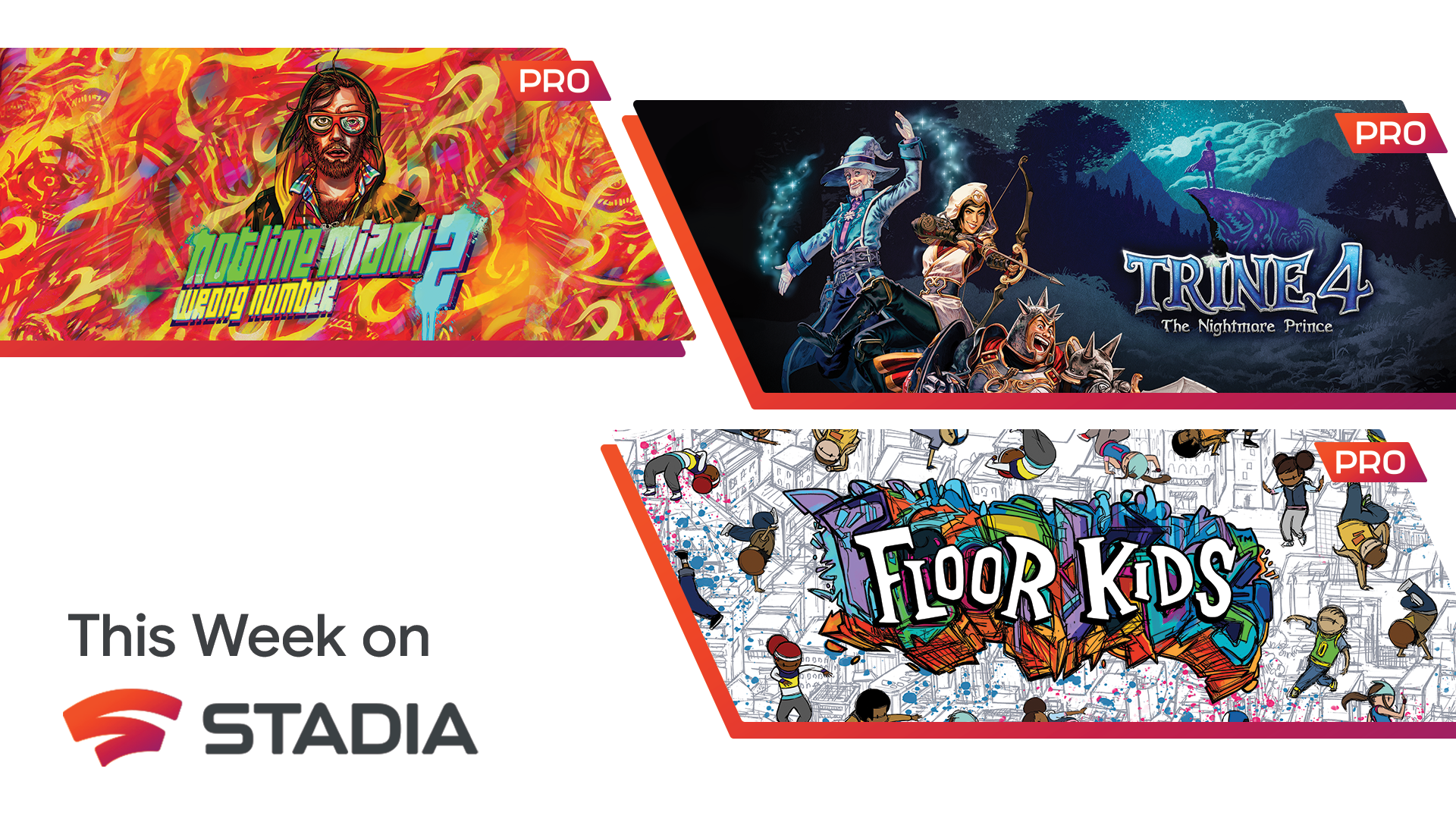 Your Stadia Pro games for May include Trine 4, Hotline Miami 2, and Floor Kids