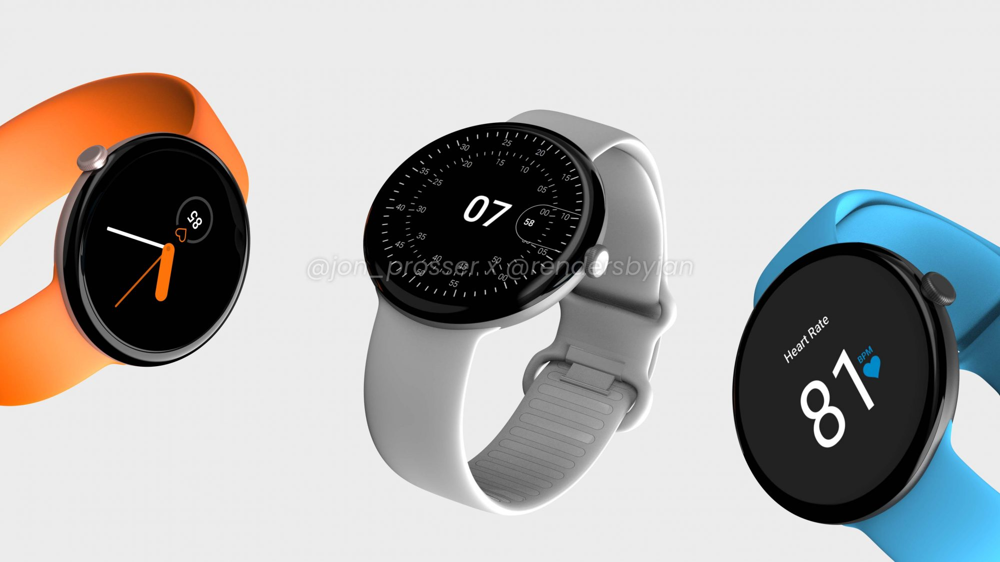Pixel Watch renders show a gorgeous wearable with clean, elegant software