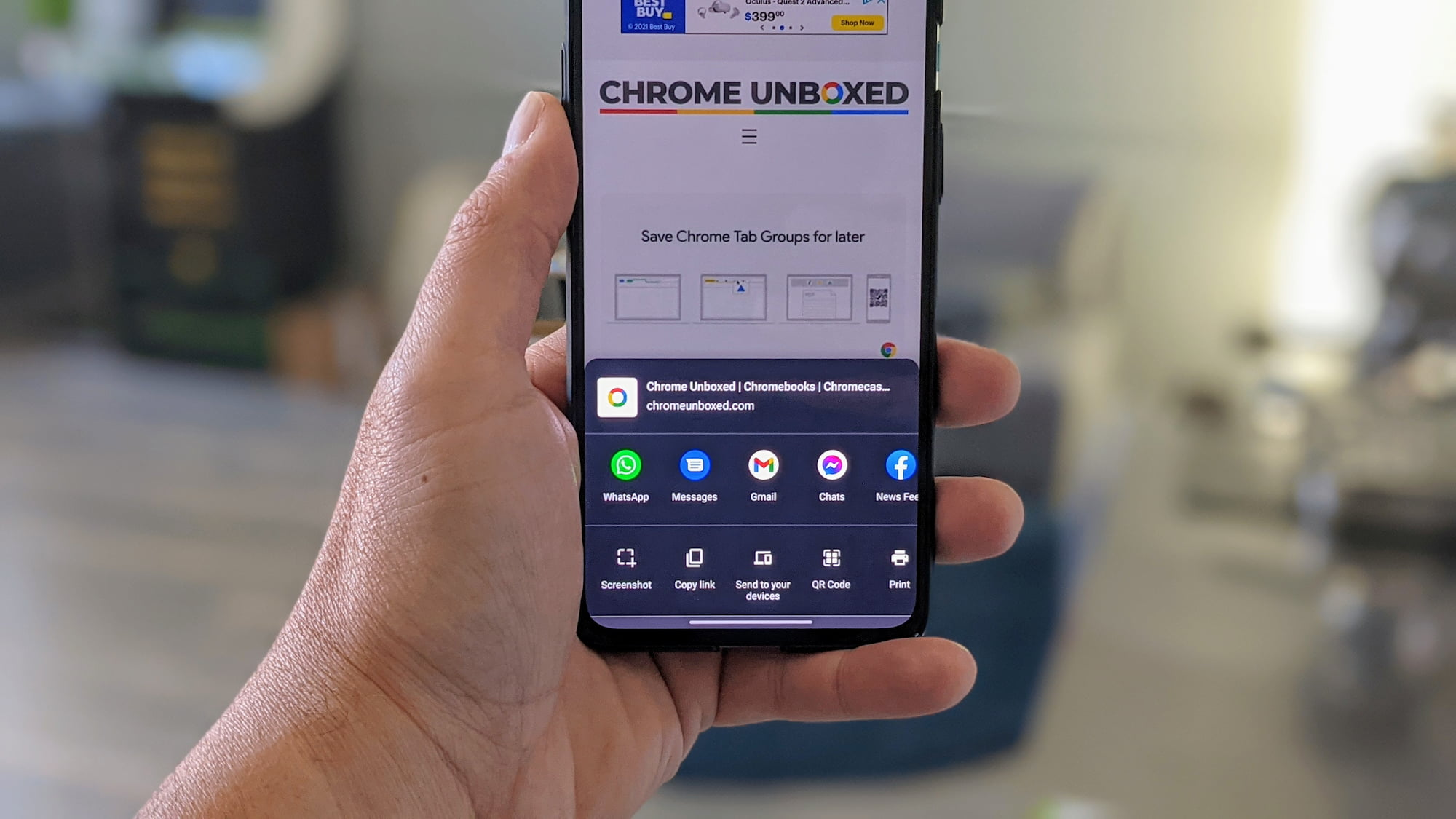 Chrome 91 adds built-in screenshot tool on Android and it is awesome