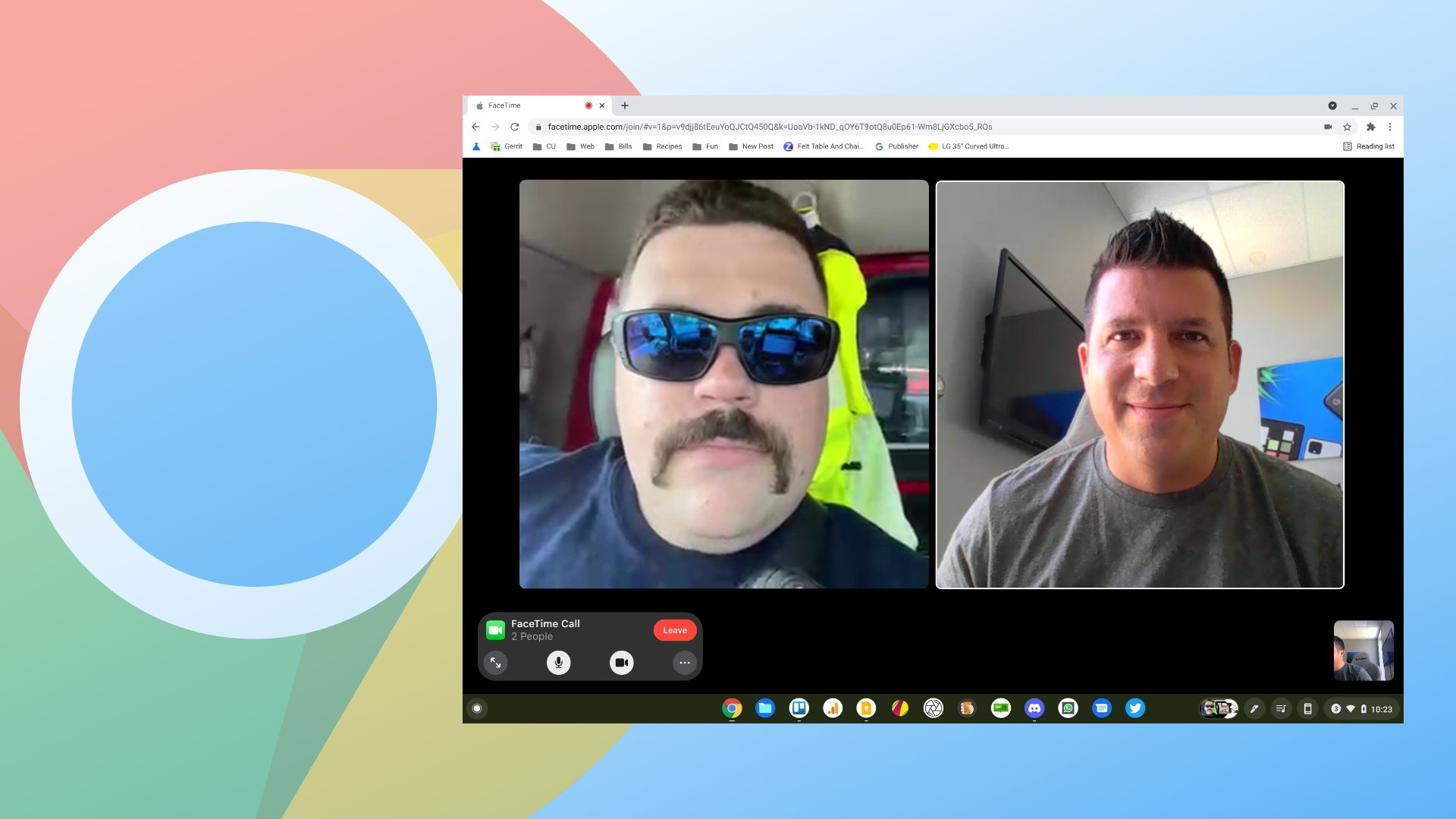 Yes, Apple's Facetime for the Web works just fine on a Chromebook