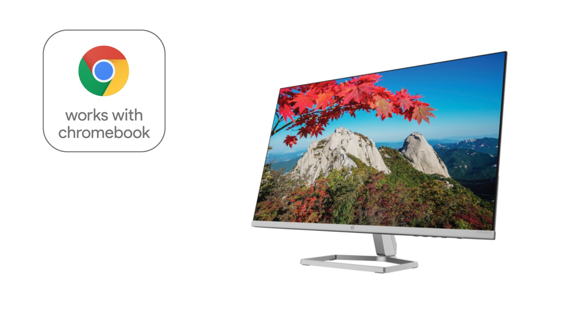 """HP debuts first-ever """"Works with Chromebook"""" desktop monitor"""