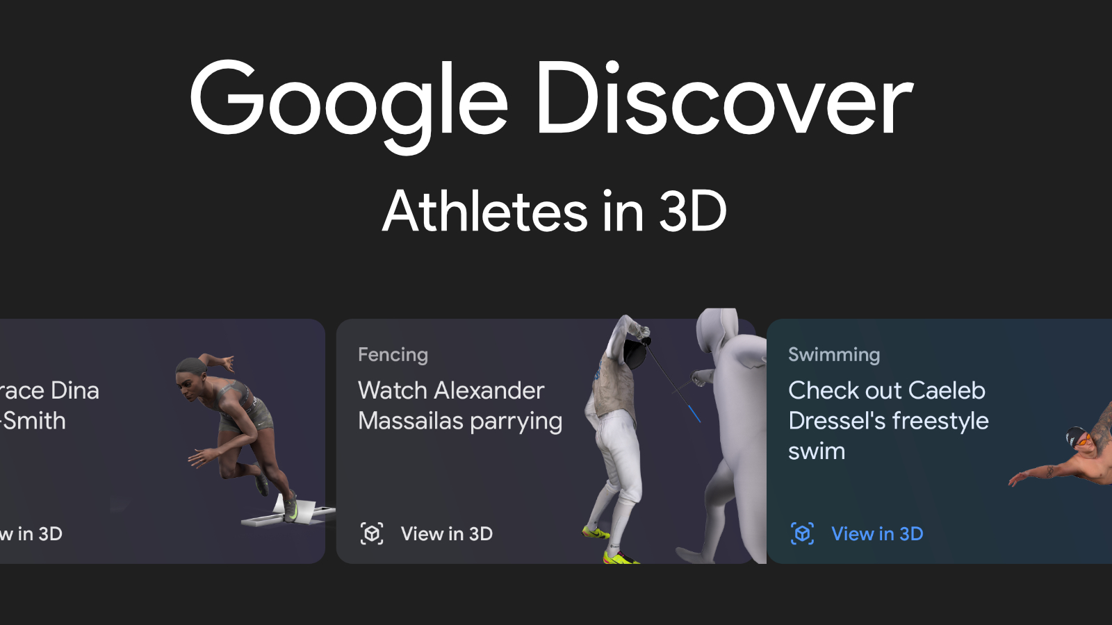 Google Discover begins showing Athletes in 3D to celebrate the 2020 Tokyo Olympics