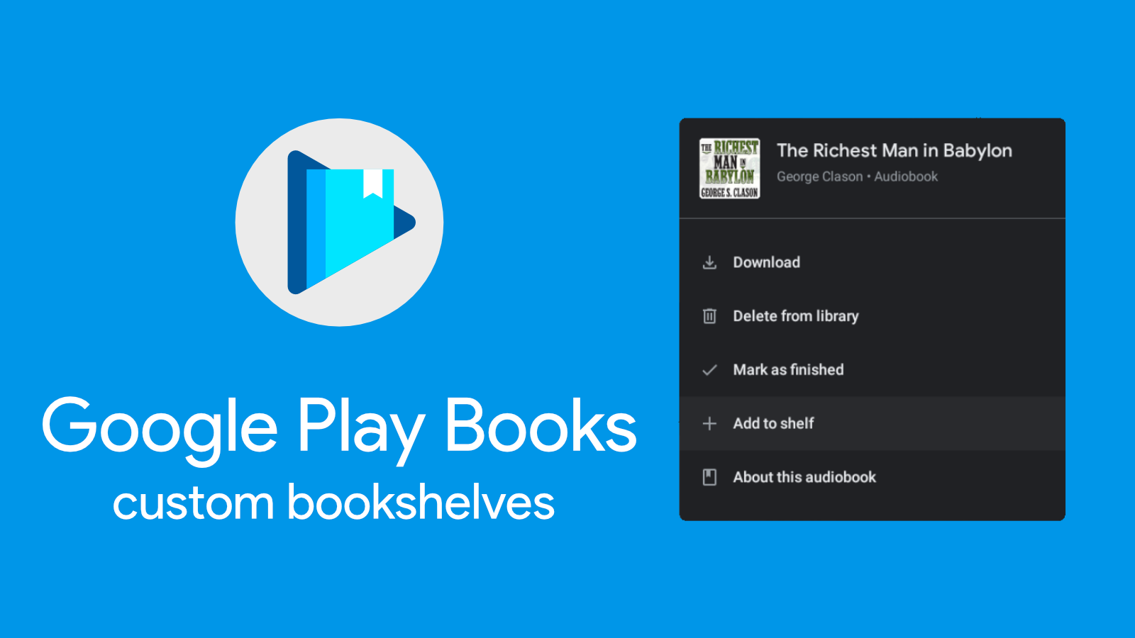 At long last, Google Play Books is bringing user-created bookshelves out of beta