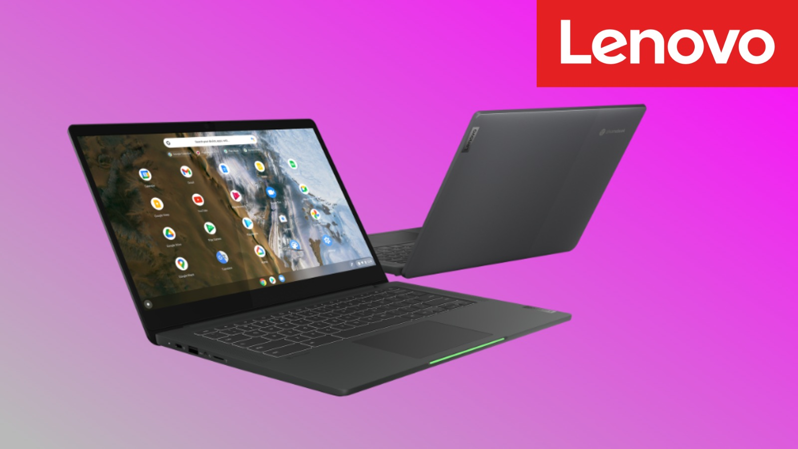 Lenovo's light-bar toting 14″ Chromebook 5i is available and $100 off