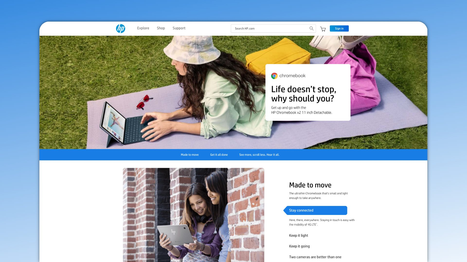 HP unveils a sweet landing page for the new Chromebook X2 11