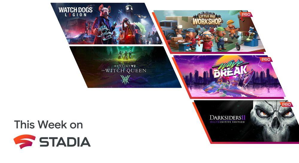 [Claim] Your Stadia Pro games for September include Wave Break, Darksiders II, and more