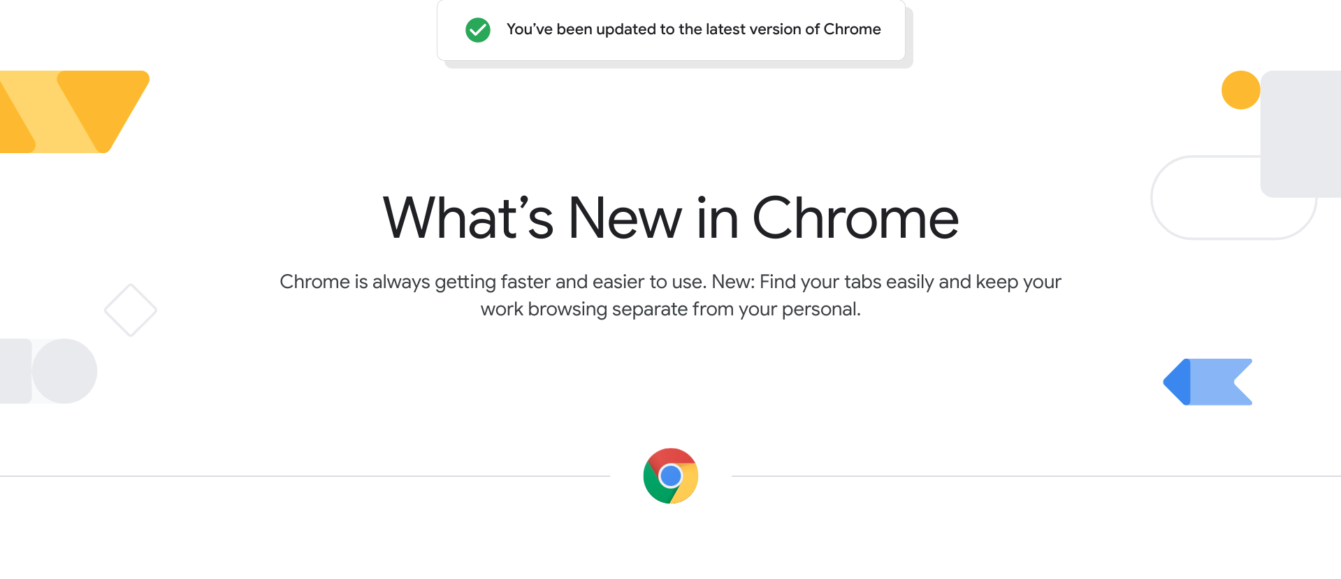 'What's New in Chrome' page now live – keeps you informed on the latest browser features