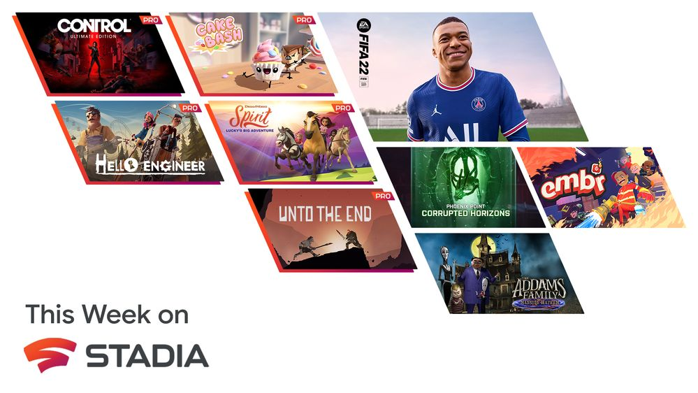 Your Stadia Pro games for October include Control, Hello Engineer, Unto the End, and more