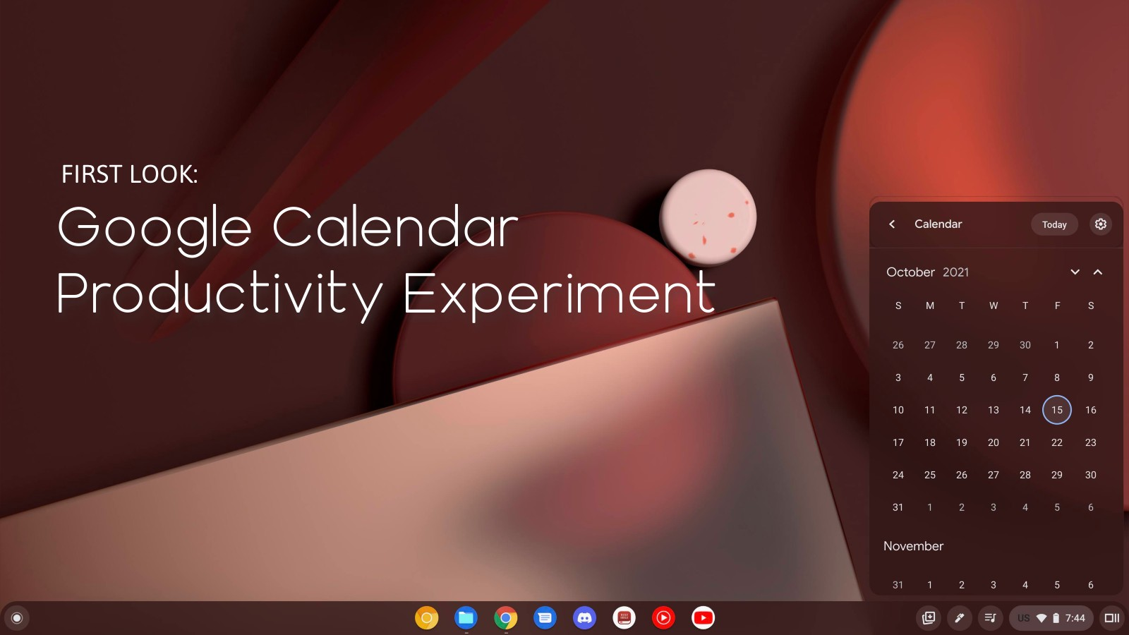 First Look: Google Calendar Chromebook productivity experiment officially appears