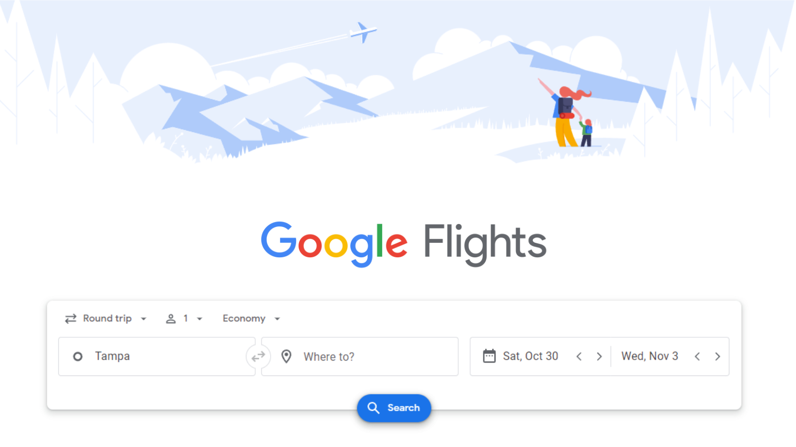 Google will now show you the estimated carbon impact of your flight