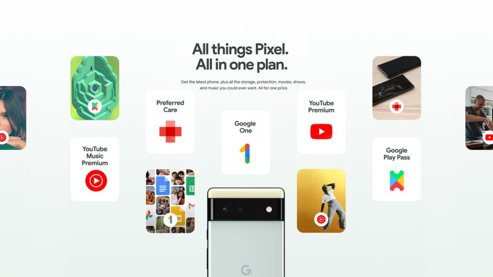 Google Pixel Pass: videos, music, games, storage, a device, and protection in one subscription